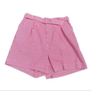 NWT, A New Day Belted Striped Shorts, Pink/white